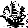Chinese Junk Vector Clipart illustration