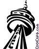 CN Tower, Toronto Vector Clip Art graphic