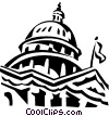 Vector Clip Art image  of a Capitol building in Washington