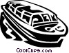 Vector Clip Art picture  of a sightseeing boats