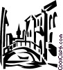bridge in Italy Vector Clipart picture