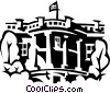 Vector Clip Art graphic  of a The White House