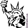 Vector Clip Art picture  of a Statue of Liberty