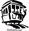 streetcar Vector Clip Art graphic