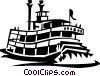 Vector Clipart image  of a riverboats