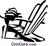 Vector Clipart illustration  of a beach chair