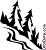 ski hills Vector Clipart graphic