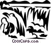 Vector Clipart graphic  of a waterfalls