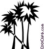 palm trees Vector Clipart illustration