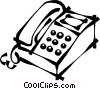 office telephone Vector Clipart picture