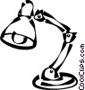 Vector Clip Art picture  of a desk light