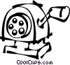 Vector Clip Art image  of a pencil sharpener