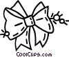 Christmas ribbon tied in a bow Vector Clipart image