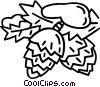 Vector Clip Art image  of a pinecones