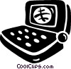 Vector Clipart graphic  of a laptop computer