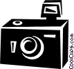 Vector Clipart illustration  of a camera