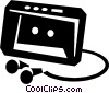 personal stereo Vector Clipart image