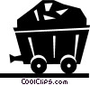 coal mining car Vector Clip Art image