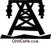 hydro towers Vector Clip Art graphic
