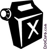 Vector Clip Art graphic  of a gas can