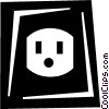 Vector Clipart graphic  of a wall socket