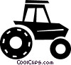 Vector Clip Art picture  of a tractor