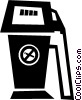 gas pumps Vector Clipart illustration