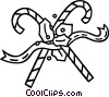 Vector Clip Art image  of a candy canes