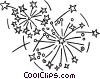 fireworks Vector Clipart graphic