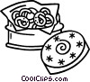 cookies in a cookie tin Vector Clip Art image