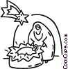 Vector Clipart picture  of a nativity scene
