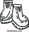 Vector Clip Art graphic  of a winter boots