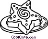 Vector Clip Art picture  of a cookies