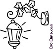 Vector Clip Art graphic  of a Outdoor lamps