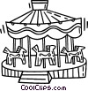 Vector Clipart picture  of a merry-go-round