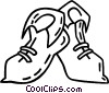 Vector Clipart picture  of a elf shoes