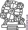 Vector Clip Art image  of a Ferris wheel