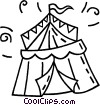 Vector Clip Art graphic  of a circus tent
