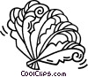 Vector Clipart illustration  of a oriental hand fans