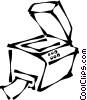Vector Clip Art graphic  of a photocopy machine