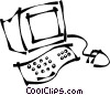 home/office computer Vector Clipart illustration