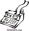 Vector Clipart picture  of a calculators