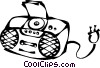 Vector Clip Art picture  of a portable stereo