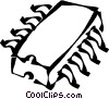 computer chips Vector Clipart graphic