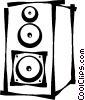 Vector Clipart picture  of a speaker