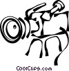 Vector Clipart graphic  of a camcorder