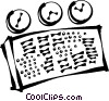 Vector Clip Art graphic  of a control panel
