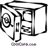 Vector Clip Art picture  of a safes