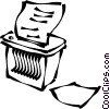 Vector Clipart image  of a paper shredding machine