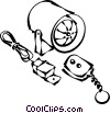 Vector Clipart picture  of a car alarm system